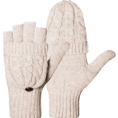 Women Warm Knit Gloves Winter Mittens FREE SHIPPING
