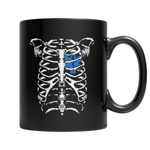 EMT Heart In Ribcage Mug