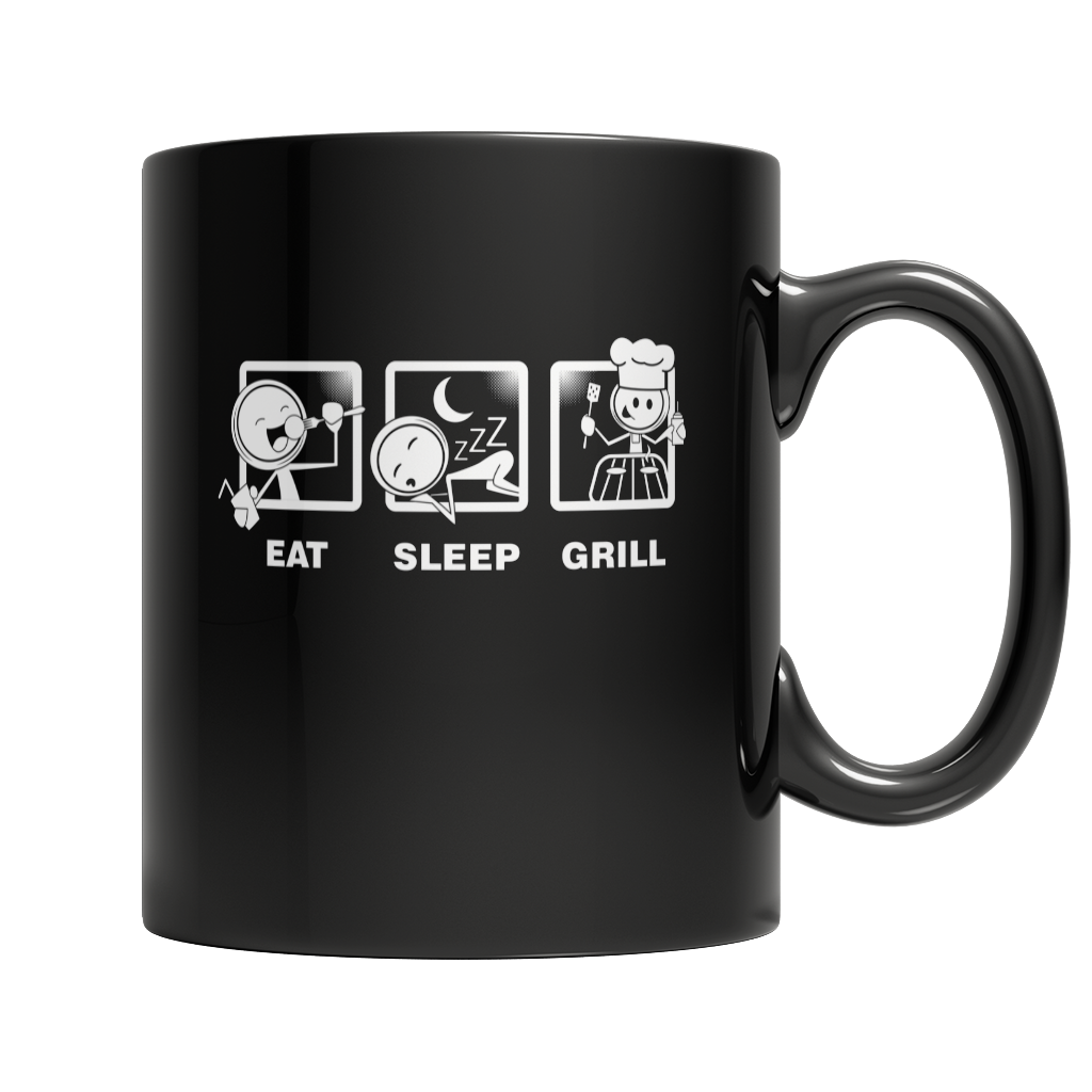 Eat Sleep Grill BBQ Mug