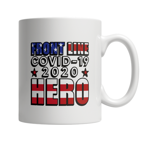 Front Line Hero Flag Coffee Mug