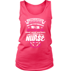 Nurse Title Earned