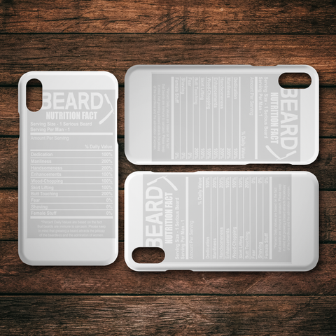 Beard Nutrition Guide Iphone Cases