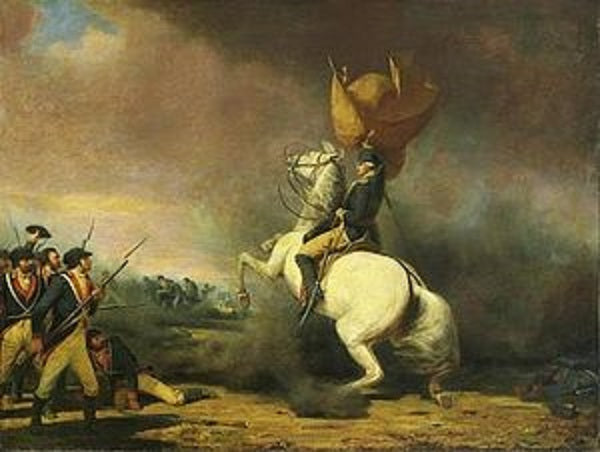 "Battle of Princeton ""Washington...advanced so near the enemy's lines that his horse refused to go further"" - American Minute with Bill Federer"