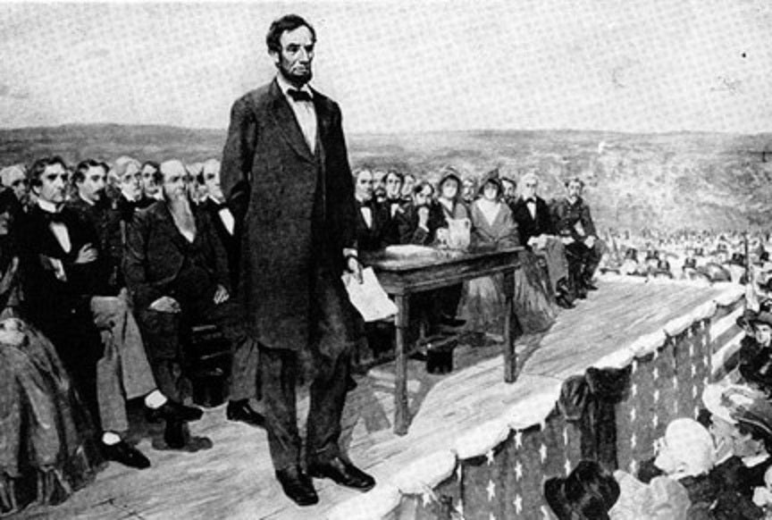 "Will Government ""OF the PEOPLE, BY the PEOPLE, FOR the PEOPLE ... perish from the earth""? -Lincoln's Gettysburg Address - American Minute with Bill Federer"