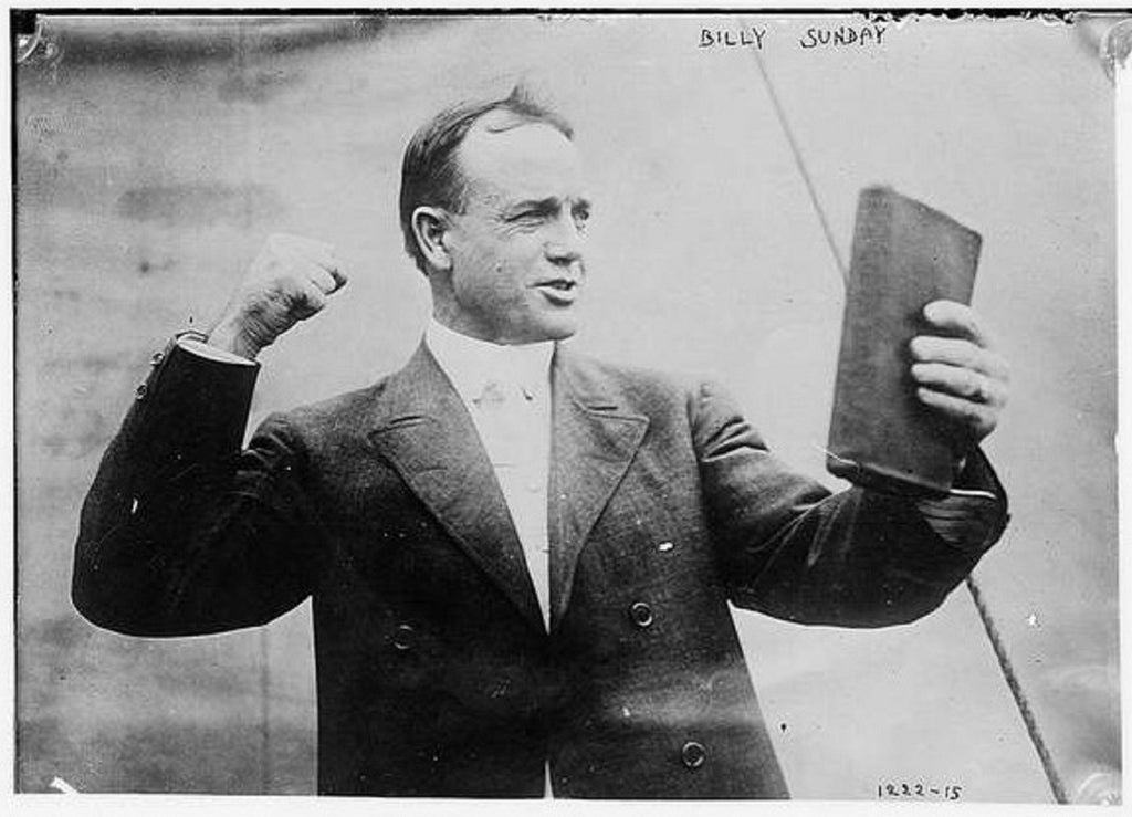 Billy Sunday Pro-Baseball Player comes out ... as a Christian evangelist! - preached to 100 million & pioneered radio evangelism - American Minute with Bill Federer