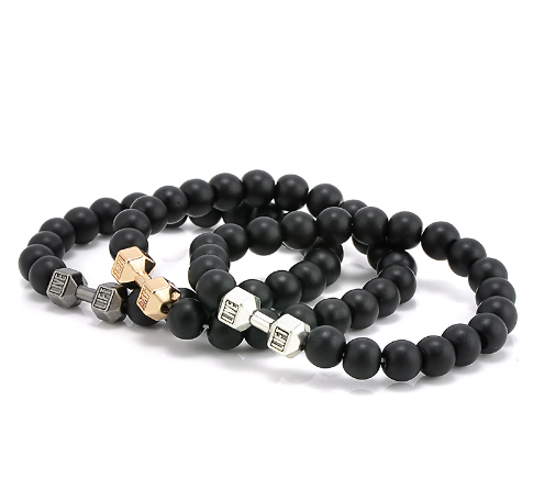 Live - Lift Gold Tone Black Bead Bracelet