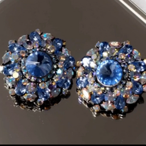 Blue Tansy Earrings