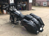 "Complete Extended Saddlebags w/ 6.5"" Sloped Speaker Lids for H-D Touring 2014 & Up"