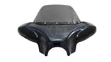 "34"" Vivid Black Universal Batwing Fairing with Windshield (Original Style)"