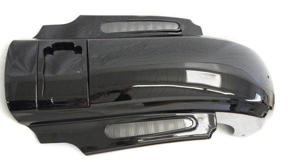 Dual Cut Out Black Rear CVO Style Fender System W/ light For Harley Touring Electra Glide 2009-2018