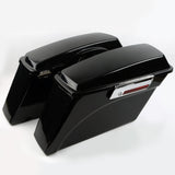 Saddlebags Trunk w/ Lid Latch For Harley Road Glide Road King 1994-2013, Matte Black