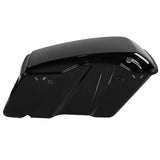 Vivid Black Hard Saddlebags Latch Lid For Harley Street Road Electra Glide 2014-2018