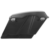 "Matte Black 5"" Stretched Saddlebags W/ Latch Keys For Harley Touring Models 93-13"