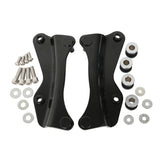 Black 4 Point Docking Hardware Kit For Harley Touring Road King Electra Street Glide 2014-2018