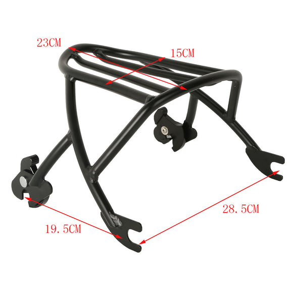 Black Solo Luggage Rack For Harley Sportster XL1200 XL883 2004-2018