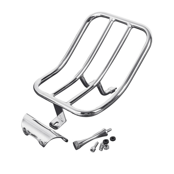 Chrome Motorcycle Rear Fender Luggage Rack For Harley Road King FLHR 1997-2008 98 99