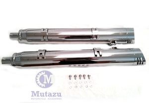"MUTAZU 4"" Thunder Slip On Mufflers Exhaust IM-05-CC Indian Chieftain, RoadMaster"