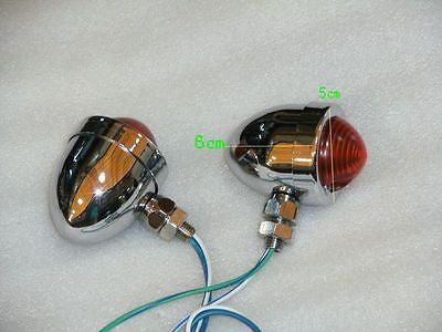 Chrome Chopper Style Turn signals fits Harley Softail Sportster Dyna Touring