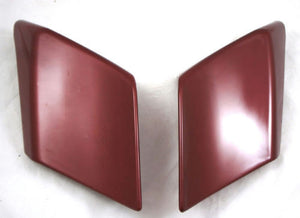 Mutazu Custom Fire Red Stretch Extended Side Covers For Harley Touring Models