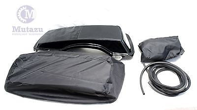Mutazu 6 x 9 Speaker Lids Harley Touring Saddlebags 1B with waterproof covers