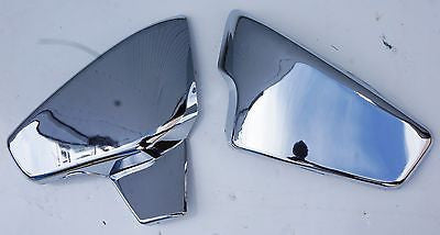 Mutazu, A Pair Chrome Side Covers fit Honda Shadow Steed  600 VT. Made with ABS