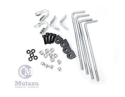 Universal Motorcycle Batwing Fairing Mounting Bracket Hardware Kit
