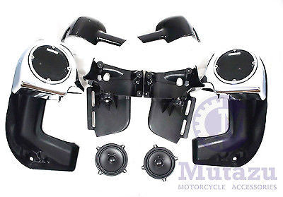 Chrome Face Lower Vented Fairing Kit with 5.25