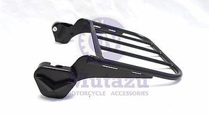Black two up Luggage Rack for Harley HD Touring Detachable Sissy Bar 94-08