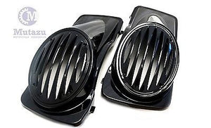 Mutazu Sloped Design 6x9 Speaker Lids for 1994-2013 Harley Touring in Vivid Black