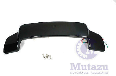 Vivid Black LED Light Spoiler fit King,Razor,Chopped Tour Pak for Harley Touring