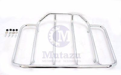 Mutazu Top Luggage Rack Rail for Harley Tour Paks Chopped & King 2014 2015 2016
