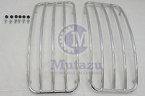 Universal MU Hard Saddlebags - Chrome Metal Top Rack Rails