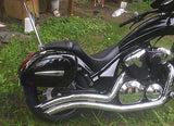 Universal LN Hard Saddlebags - Glossy Black