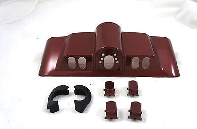 Mutazu Fire Red Inner Fairing Cap kit w/ switch cap fit Harley FLHR FL Touring