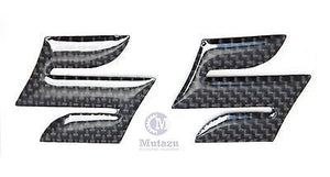 "Carbon Fiber Emblem Badge Decal 3D Tank Wheel Logo ""S"" Sticker for Suzuki, pair"