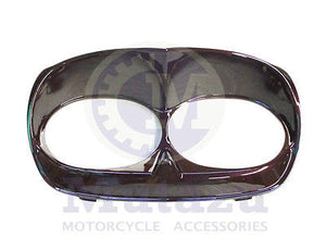 Black Cherry Bad Boy Bezel for Harley Road Glide