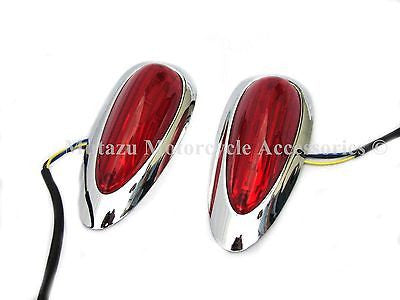 A pair of Tear Drop LED lights for Hard Saddlebags Saddle bags,best fit HL model