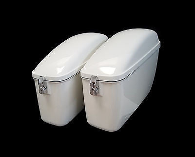 Universal LW Hard Saddlebags - Gloss White