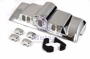 New Chrome Inner Fairing Cap kit w/ switch cap fit Harley FLHR FL Touring
