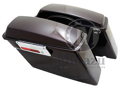 Black Cherry Complete Hard Touring Saddlebags for Harley Touring Models FLH FLT