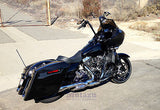 "Mutazu Stretched 4.5"" Extended Bags for Harley Touring Saddlebags for 2014 & 15"