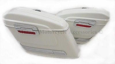 Universal HL Hard Saddlebags - White