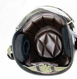 Air Force Motorcycle Helmet, with Dual Visors, Clear or Black, One size fits all
