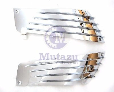 Chrome Fairing Set Upper Side Panel  Kawasaki 06-11 Ninja ZZR1400 ZX-14R ZX14R
