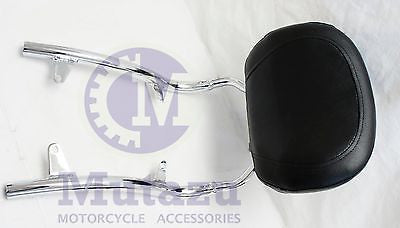 Mutazu chrome Sissy Bar Backrest for Honda Shadow VLX600  VT600 600 1988-1998