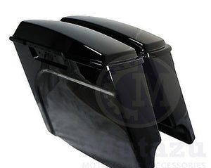 "Mutazu 4"" Vivid Black Fits Harley HD Stretched Extended Touring Hard Saddlebag"