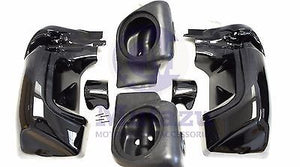 Mutazu Vivid Black Non Vented Lower Speaker Pods Fairing set for Harley Touring