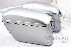Universal LW Hard Saddlebag - Silver