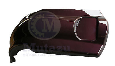 Black Cherry Extended Stretched Fender Overlay for Harley Touring