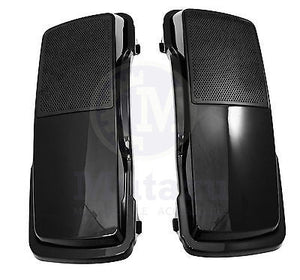 Mutazu 6 x 9 Speaker Lids Vivid Black for Harley Touring Hard Saddlebags
